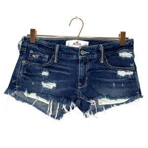 HOLLISTER distressed medium wash jean shorts